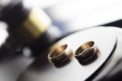 Divorce law concept. Royalty Free Stock Photos
