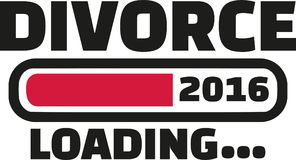 Divorce 2016 Loading. Bar vector Royalty Free Stock Image
