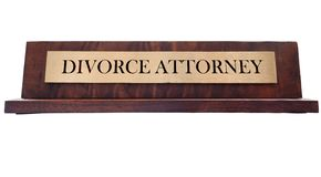 Divorce Name plate Stock Photos