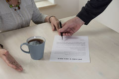 Divorce paper on the table Royalty Free Stock Image