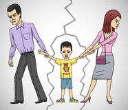Divorce. Parental divorce is a strong psychological impact on the child stock photography