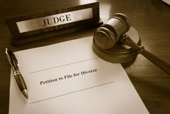 Divorce Petition Royalty Free Stock Photography