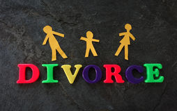 Divorce play letters Royalty Free Stock Images