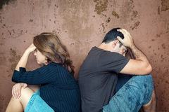 Divorce,problems - Young couple angry at each other Royalty Free Stock Photography