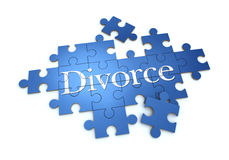 Divorce puzzle Royalty Free Stock Image