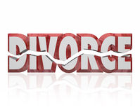 Divorce Red 3d Word Broken Marriage Legal Separation Royalty Free Stock Image