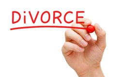 Divorce Red Marker Royalty Free Stock Photography