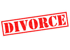 DIVORCE. Red Rubber Stamp over a white background royalty free illustration