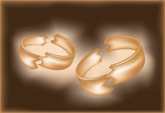 Divorce ring banner Royalty Free Stock Image