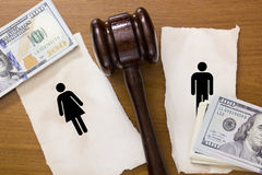 Divorce section Royalty Free Stock Image