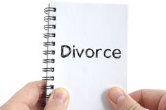 Divorce text concept Stock Images