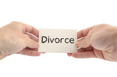 Divorce text concept Royalty Free Stock Photo