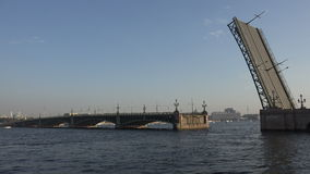 Divorce Trinity Bridge in St. Petersburg in the afternoon. Day. 4K. stock video