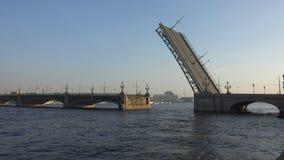 Divorce Trinity Bridge in St. Petersburg in the afternoon. Day. 4K. stock footage