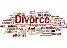 Divorce, word cloud concept 2 Stock Image
