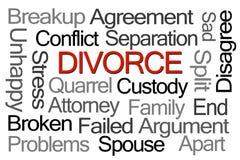 Divorce Word Cloud royalty free stock photos