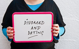Divorced и датировка стоковая фотография