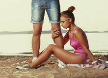 Divorcement, trahison - femme déçu Photographie stock