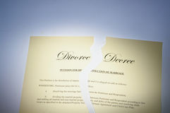 Divorcez le décret Photographie stock libre de droits