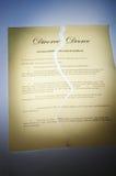 Divorcez le décret Image libre de droits