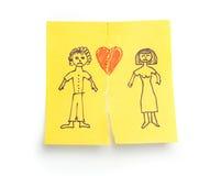 ?Divorcio bosquejado concepto? Fotos de archivo