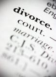 Divorcio de la palabra del diccionario Imagenes de archivo