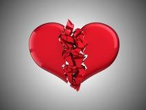 Divorcio y amor. Corazón quebrado Foto de archivo libre de regalías