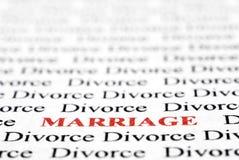 Divorcio y unión Foto de archivo libre de regalías