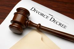 Divorzi il decreto Fotografie Stock
