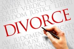divorzio fotografie stock