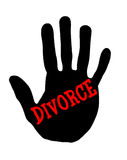Divorzio di Handprint Immagini Stock