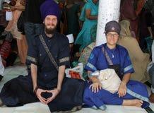 Divotees sikh no nativos Fotografía de archivo libre de regalías