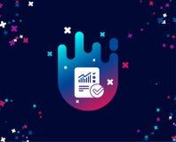 Divulgue a documento el icono simple checklist stock de ilustración