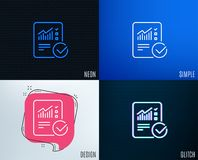 Divulgue la línea icono del documento checklist stock de ilustración