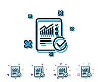 Divulgue la línea icono del documento checklist libre illustration