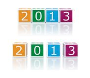 Divulgue los temas con los bloques del color. 2013. Foto de archivo