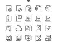 Divulgue que vector Bien-hecho a mano perfecto del pixel de UI alinean ligeramente los iconos 48x48 listos para la rejilla 24x24  Foto de archivo libre de regalías