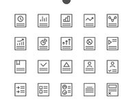 Divulgue que vector Bien-hecho a mano perfecto del pixel de UI alinean ligeramente los iconos 48x48 listos para la rejilla 24x24  Imagen de archivo