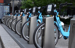 Divvy bike rental station in Chicago Stock Photos