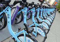 Divvy Bike share in Chicago Stock Image