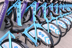 Divvy Bike share in Chicago Stock Images