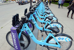 Divvy Bike share in Chicago Royalty Free Stock Images