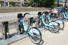 Divvy Bike Share Station Royalty Free Stock Photography