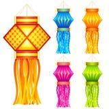 Diwali停止的灯笼 库存例证