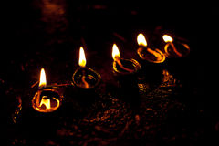 Diwali光 图库摄影
