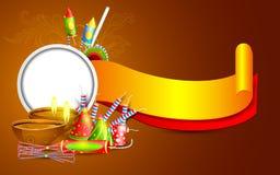 Diwali横幅 库存照片