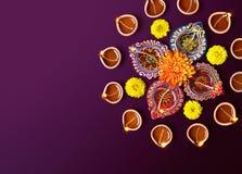 Diwali油灯 免版税图库摄影