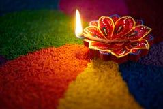 Diwali油灯 库存照片