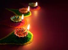 Diwali油灯 图库摄影