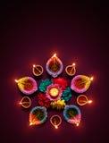Diwali油灯 免版税库存照片